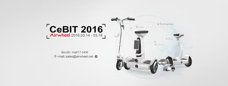 Airwheel in CeBIT 2016, electric hoverboards