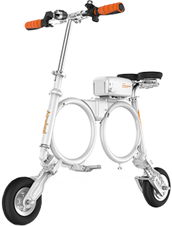 E3 backpack e bike has multi-functional handlebar, 300W hub motor, OO frame design and folds up easily to backpack size.